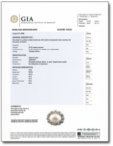GIA's Pearl Identification Report
