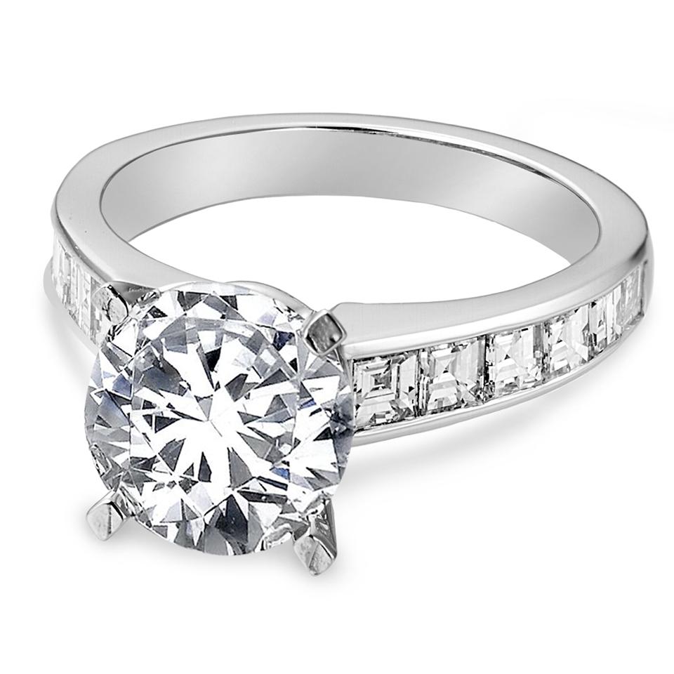 Stuller Three Stone Side Stones: Side Stone Settings For Engagement Rings