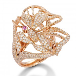 Rose gold ring in the shape of a butterfly. Image courtesy of MIIRORI by JACOB's Jewelry.