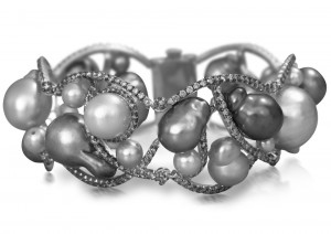Pearl and diamond bracelet. Courtesy of Yvel.