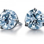 Diamond stud earring. Courtesy of DeBeers Diamond Promotions Service.