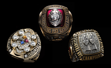 Super Bowl Bling Rings
