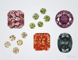 A variety of colors can be produced on polished diamonds by a new coating technique from Serenity Technologies, Inc.