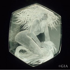 Ariel Quartz Carving by Tom McPhee.
