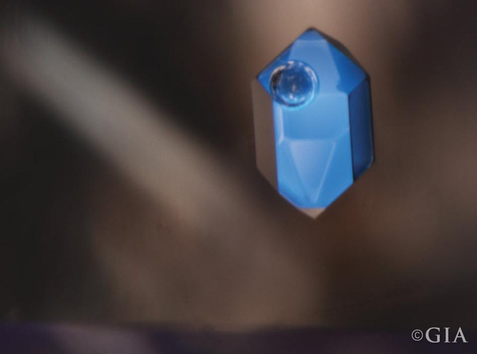 Negative Crystal in Quartz. Magnification 50x.