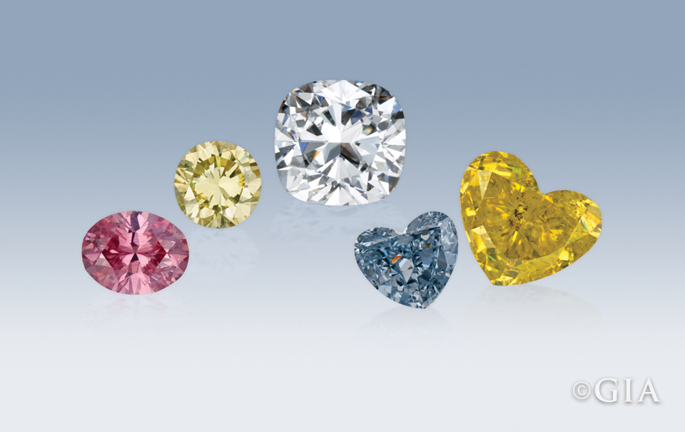 Diamonds representing diamond types