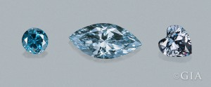 Natural blue diamond colors