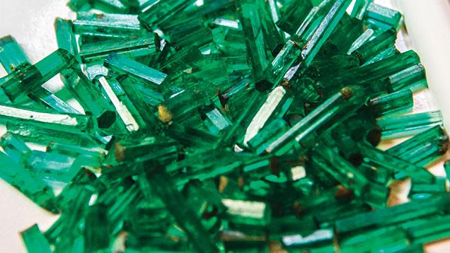 Pencil emeralds