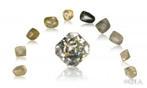 由 American Siba Corp.(成品钻石)、和 Cora Diamond Corp.(原石晶体)友情提供