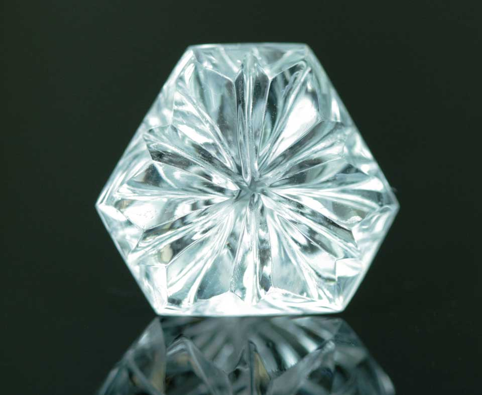 15.14 ct unheated aquamarine from Pakistan. Photo © Sherris Cottier Shank