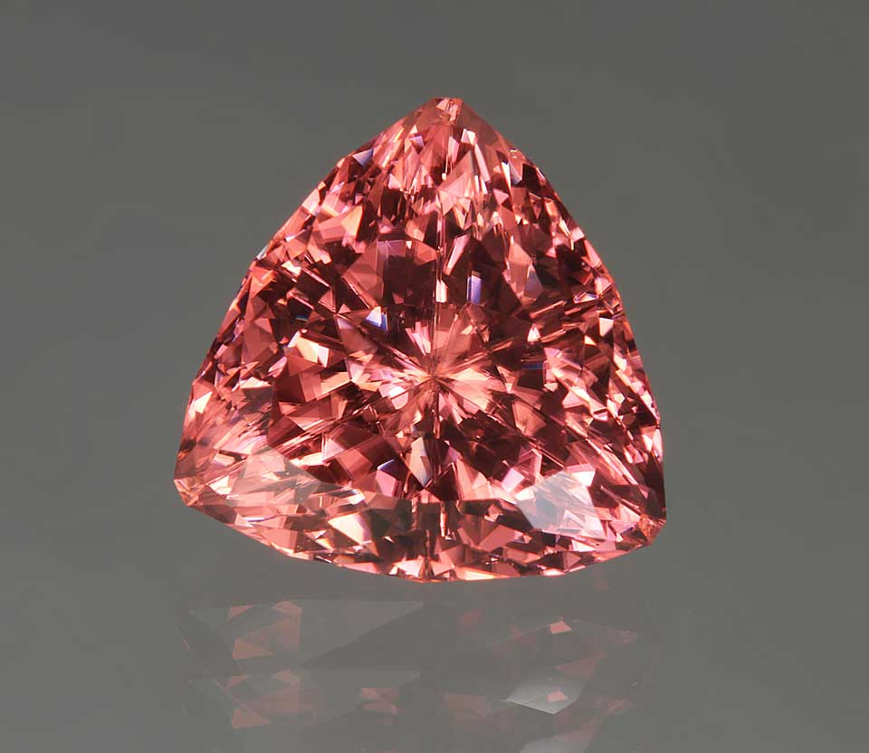 7.20 ct Super Trillion™ cut zircon. © John Dyer, gem cut by John Dyer & Co.