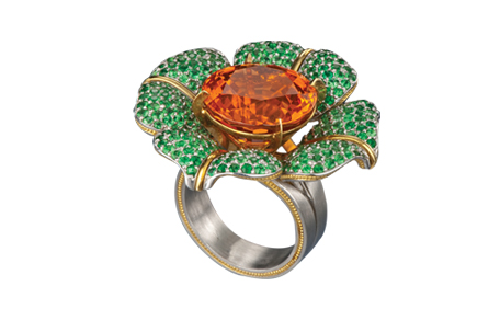 Celebrate Flower Power with a Gemstone Flower Ring