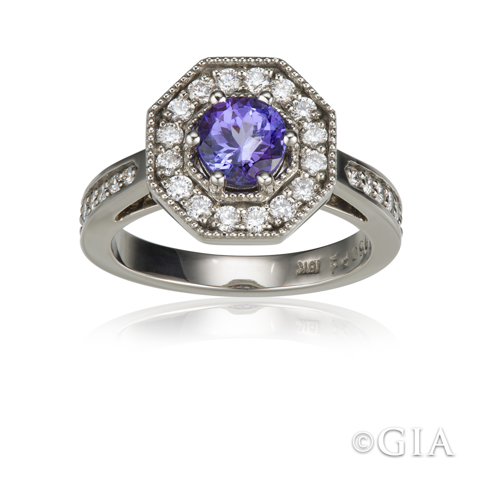white gold-tanzanite-diamond-ring