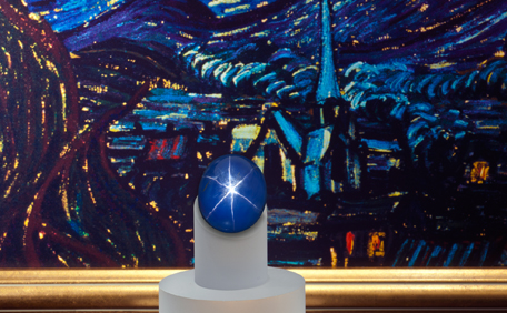 Van Gogh's The Starry Night and the Starry Night Sapphire