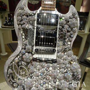Eden of Coronet®, Diamond Gibson Guitar, set with 400 carats of diamonds. Courtesy: Aaron Shum Jewelry Ltd