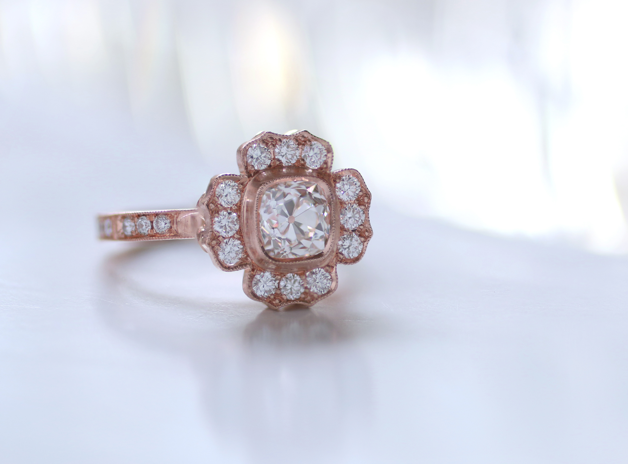 from for online ring pin sale motif loose rings floral style flower vintage engagement diamonds whitehouse brothers