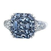 Amazing Blue diamond and diamond ring