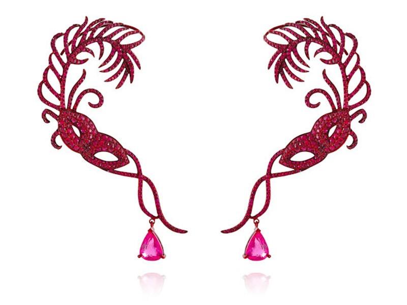 Scarlet Empress Earring