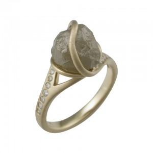 Unpolished diamond rings in Dallas, Texas - Shira Diamonds - Wholesale Diamonds - Edgy Diamond Rings
