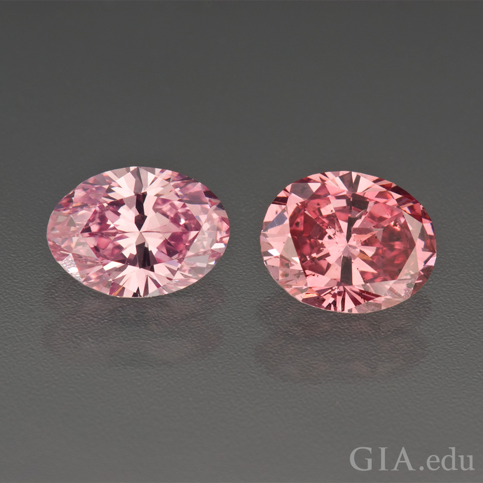 Two pink diamonds.