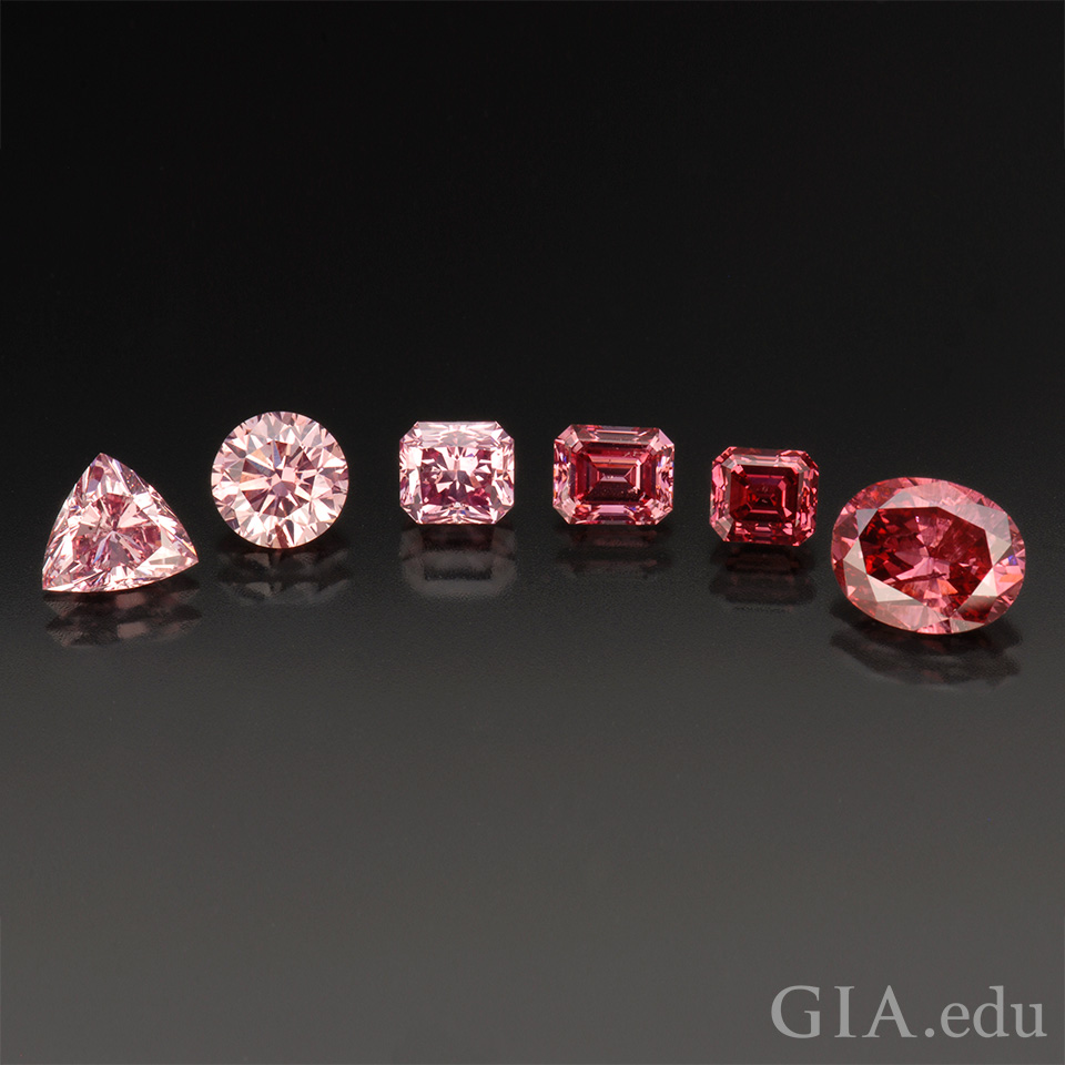 Six pink diamonds.
