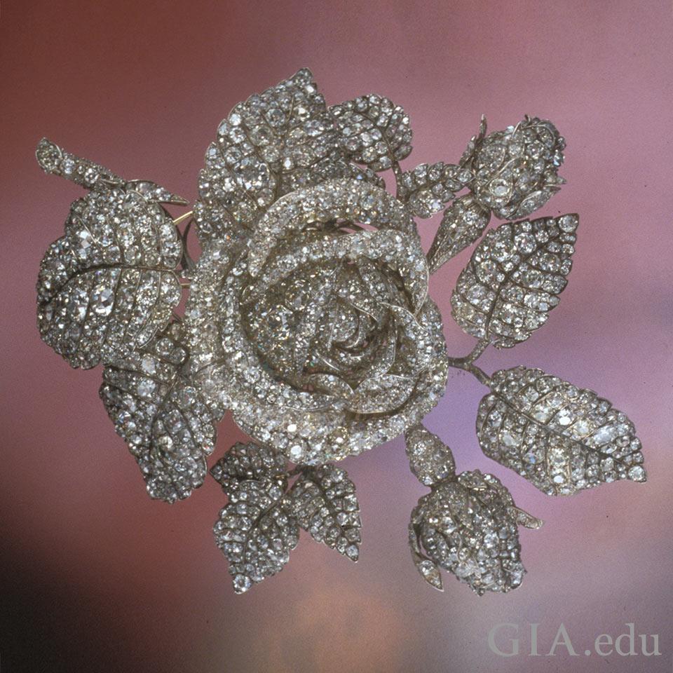 Diamond corsage ornament