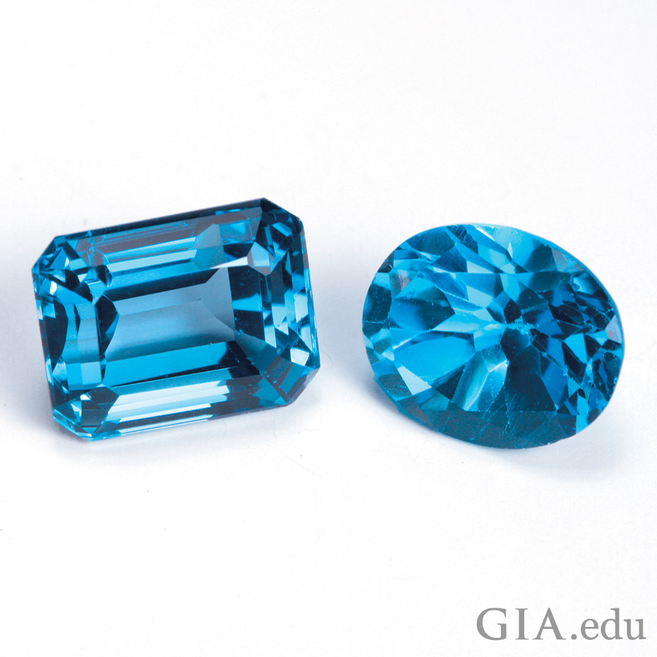 4th wedding anniversary gemstone: blue topaz