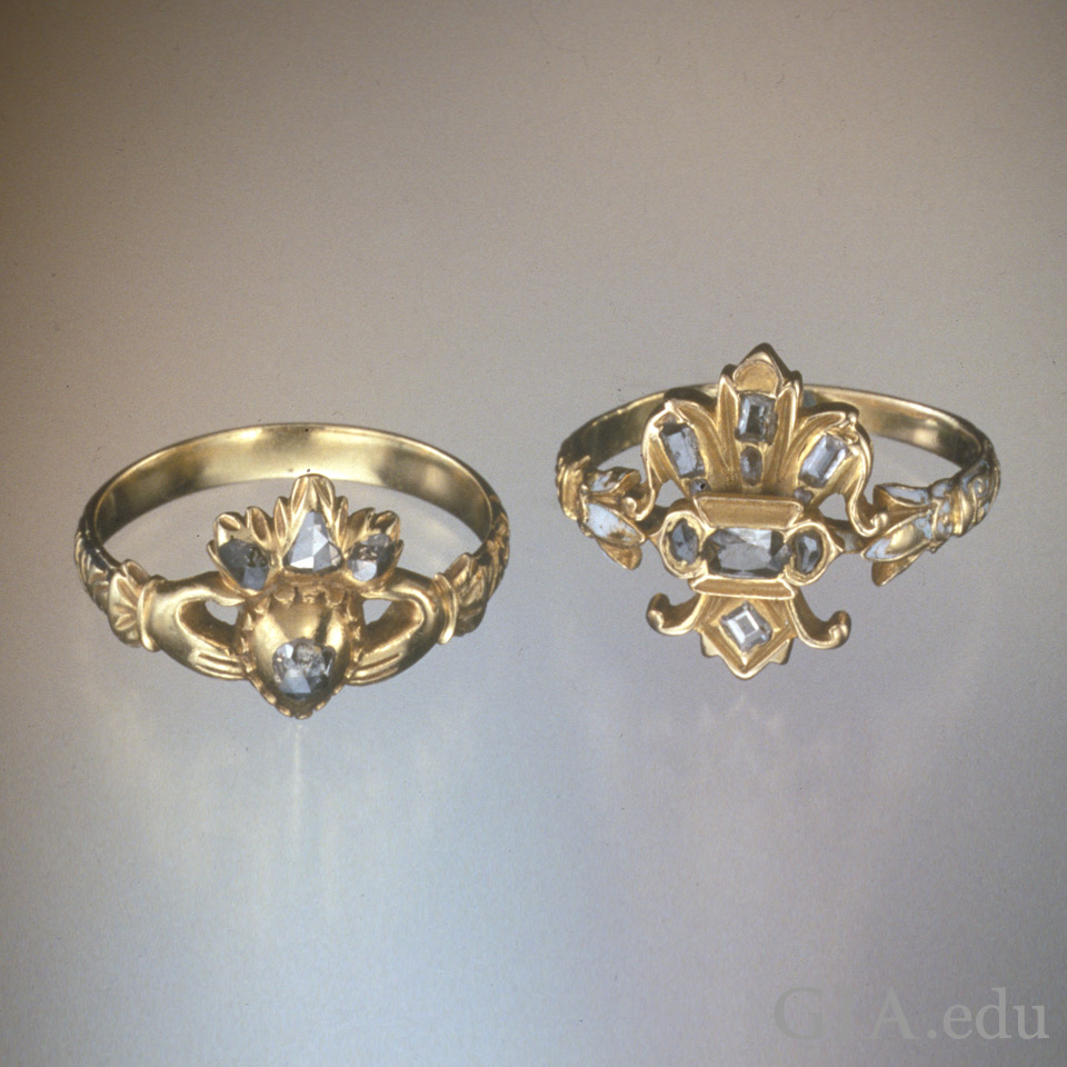 the gallery for gt antique claddagh engagement ring