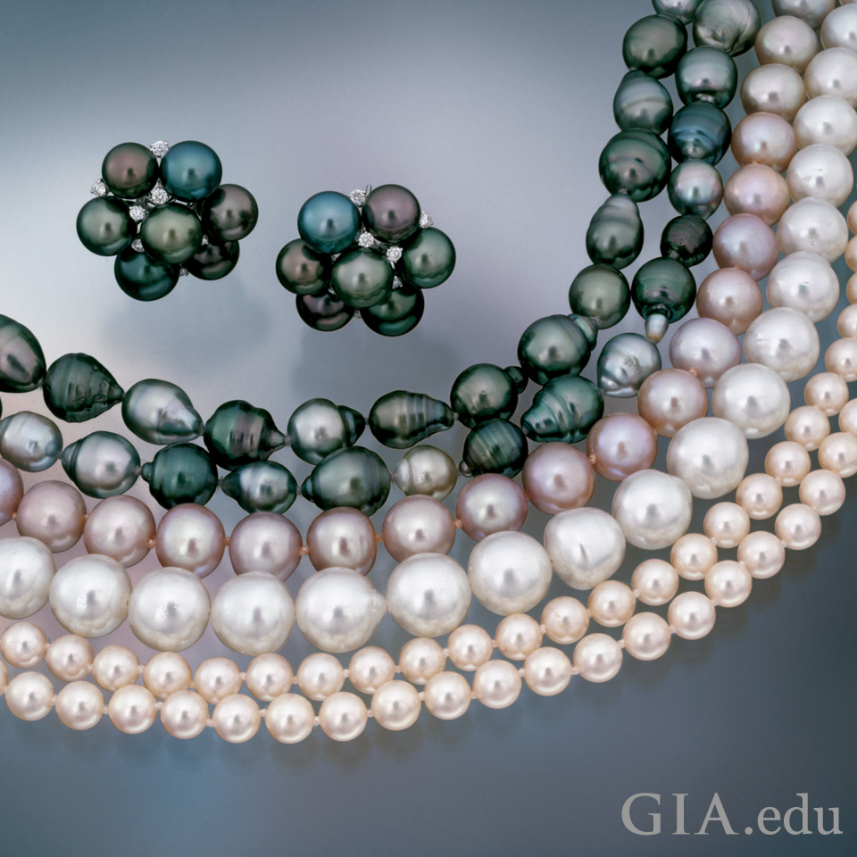 Pearl quality: cultured pearls