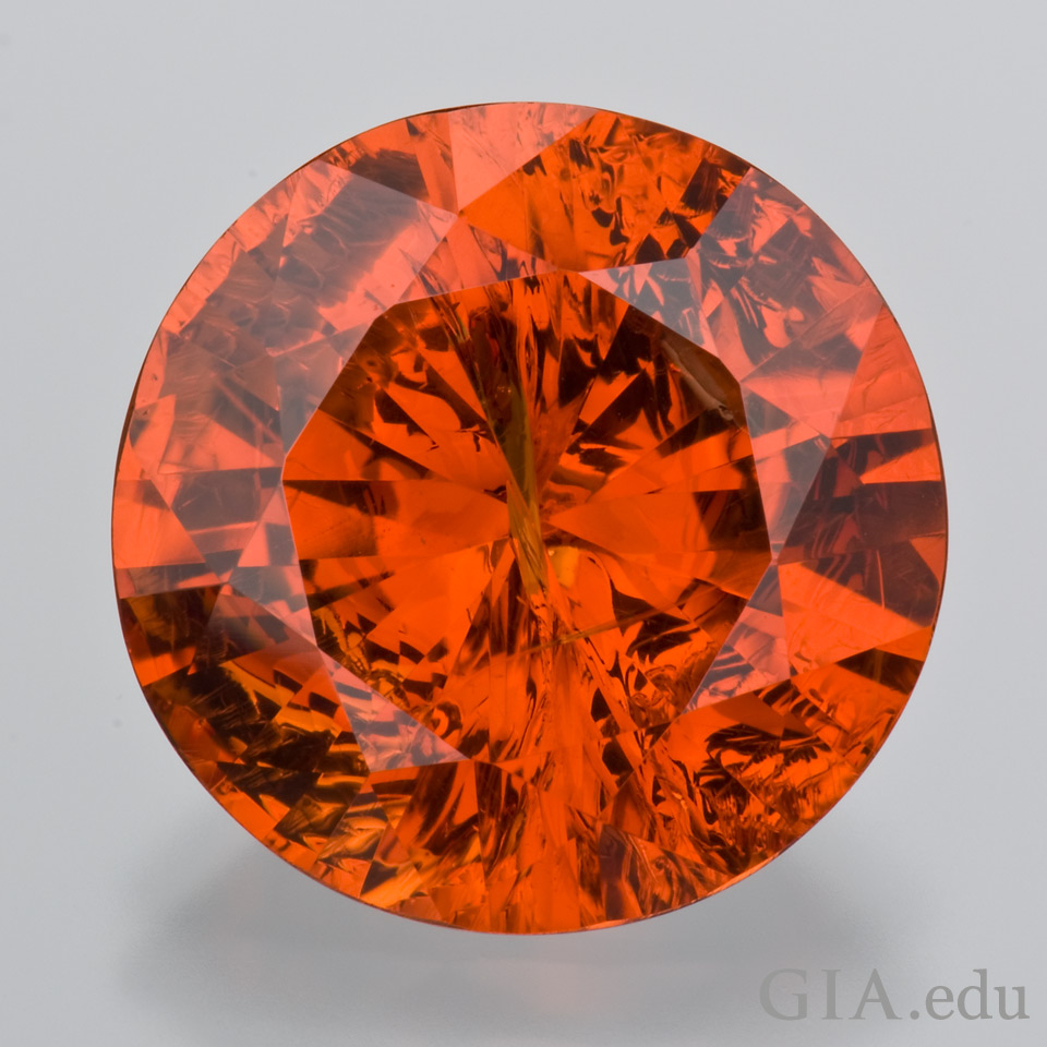 2nd wedding anniversary gemstone: Vivid orange garnet