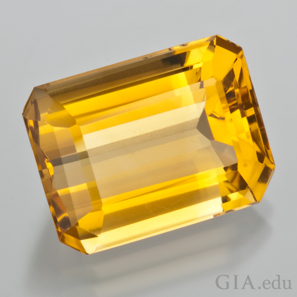 1st anniversary gemstone: citrine, gold-colored gem