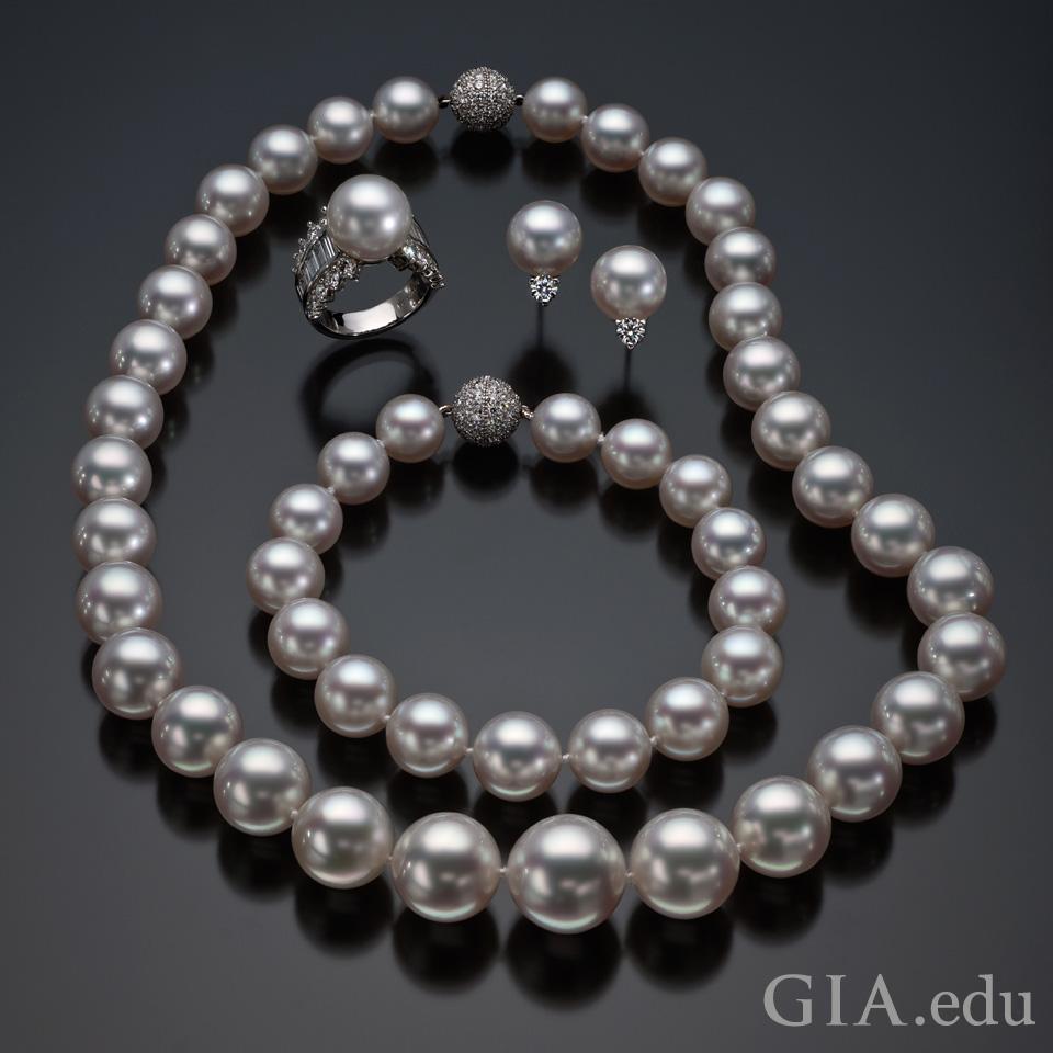 真珠の品質:上質な真珠の例