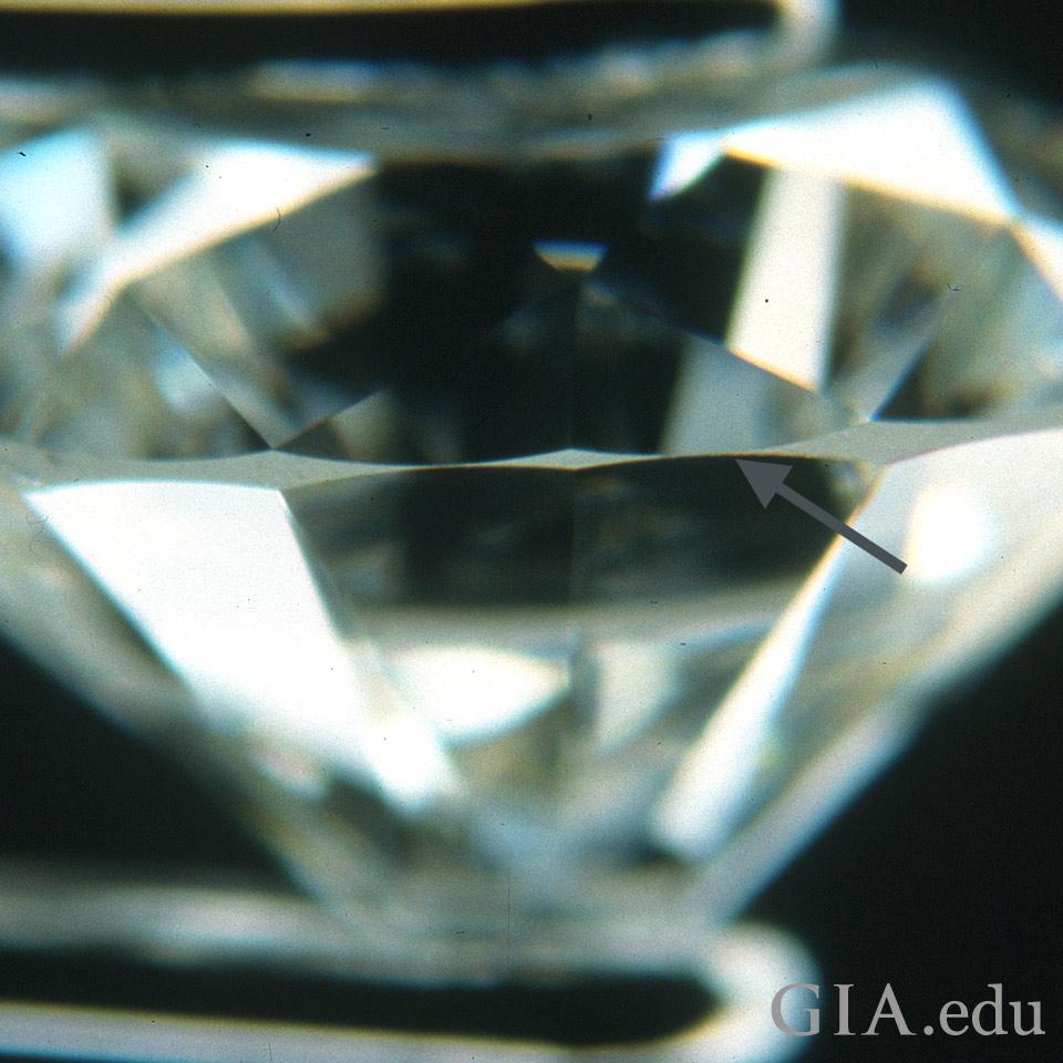 ガードルが極端に薄いダイヤモンド