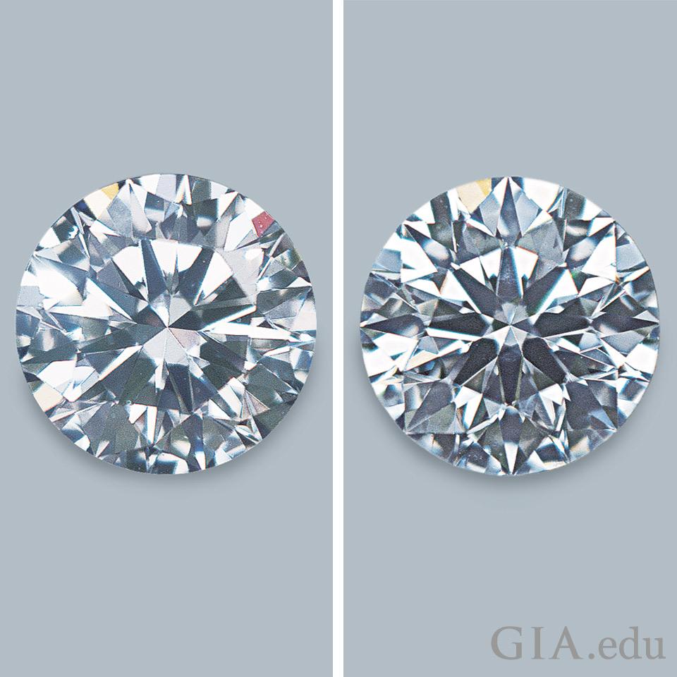 比同类钻石拥有更多闪烁和闪光的钻石