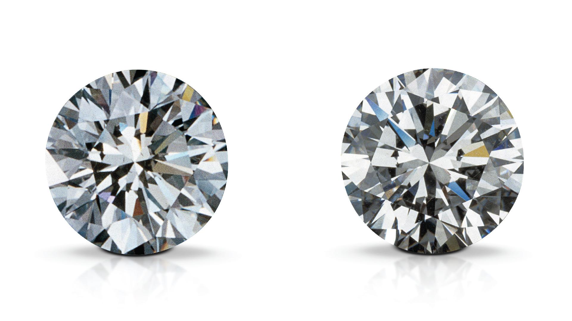 Synthetic Diamond And Natural Diamond Gia 4cs