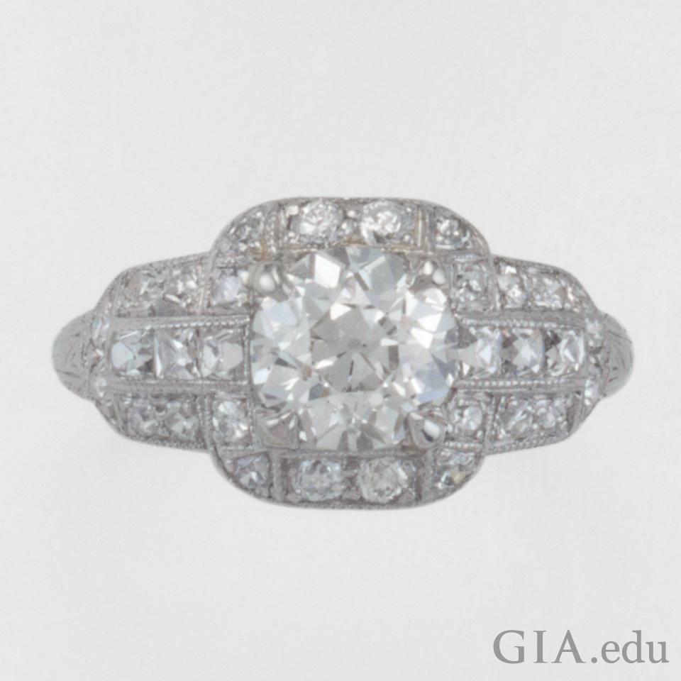 Old mine cut diamond timeless romance 138 carat ct old european cut diamond platinum engagement ring geenschuldenfo Images