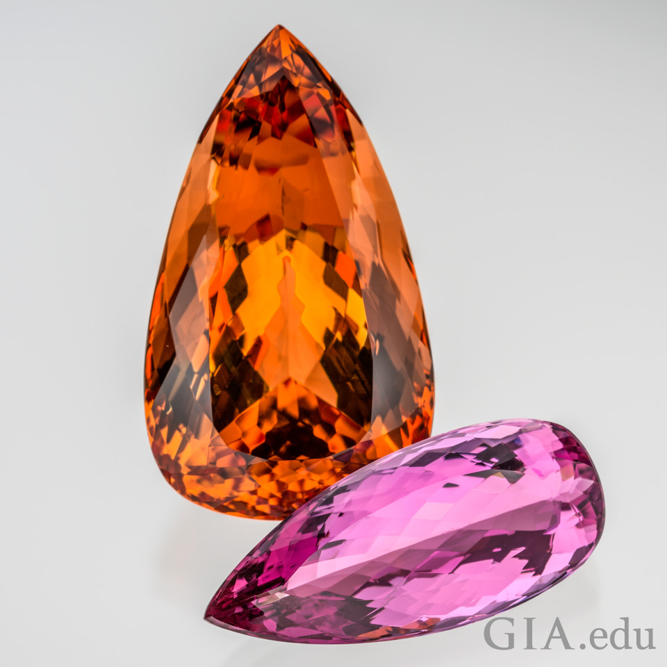 Reddish orange Imperial Topaz