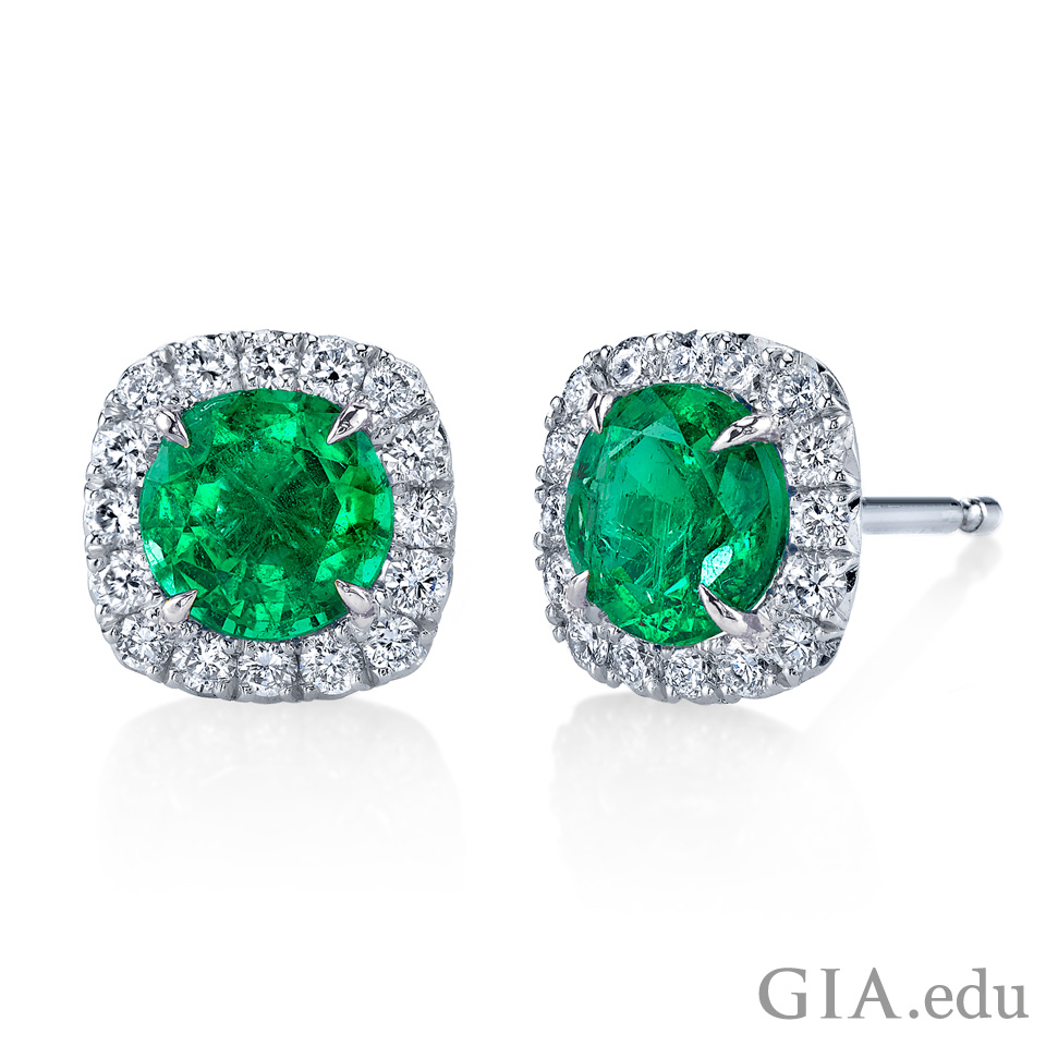 20th wedding anniversary gemstone Emerald earrings