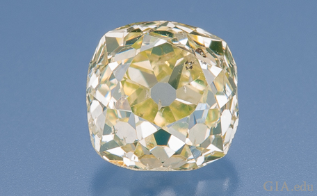 Yellowish 0.68 ct diamond