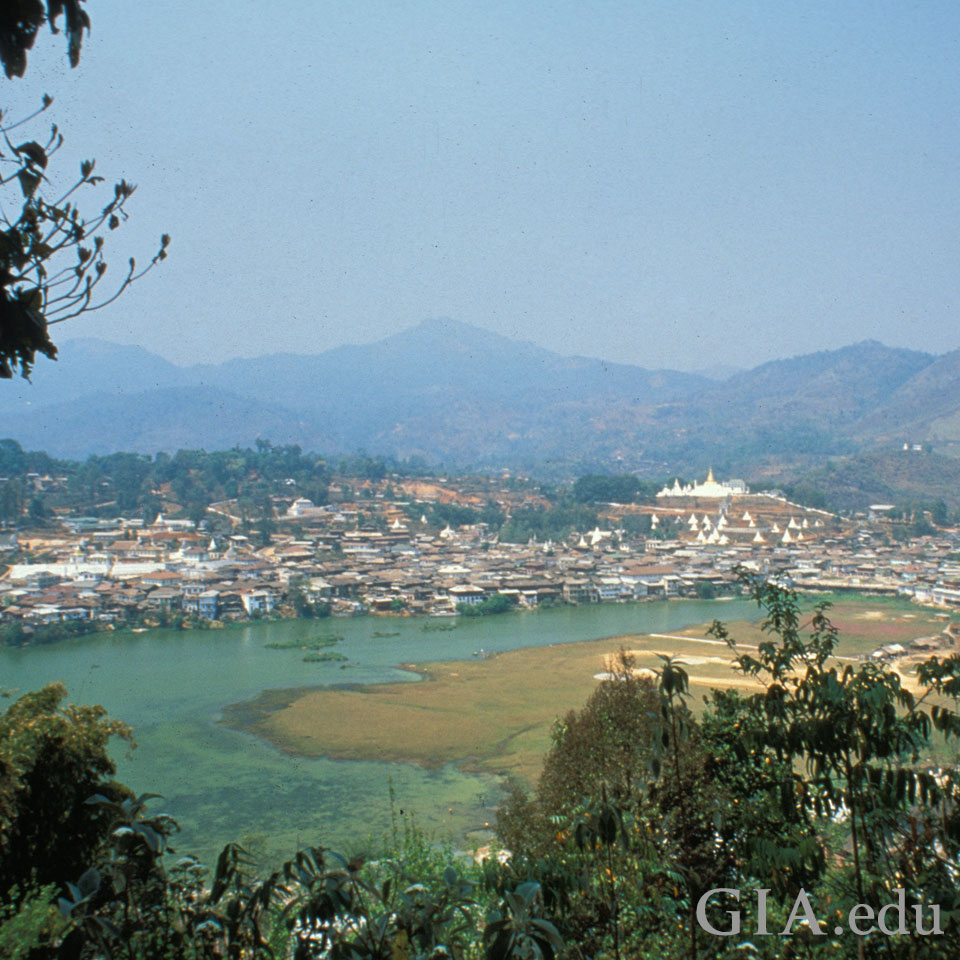 A panoramic view of Mogok