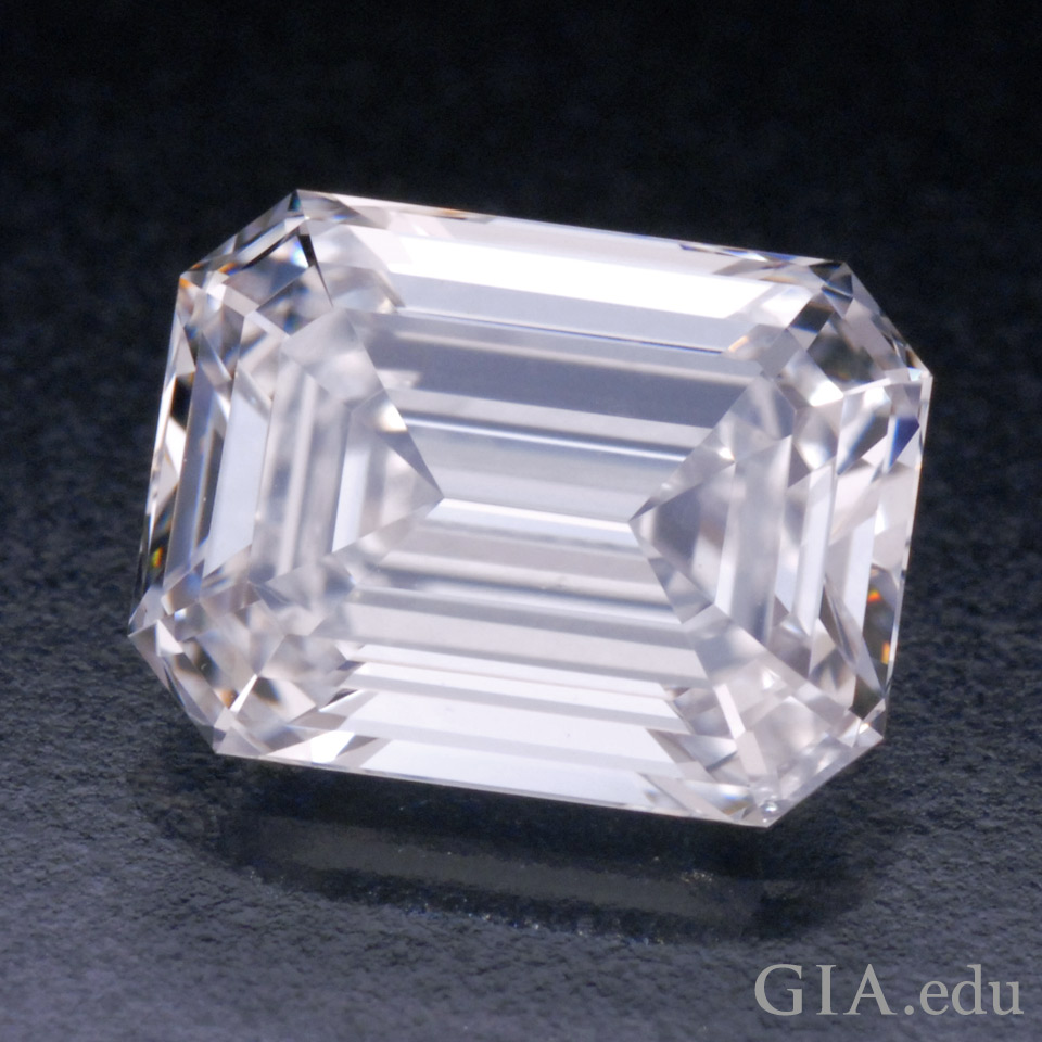 A 1.05 ct emerald-cut diamond