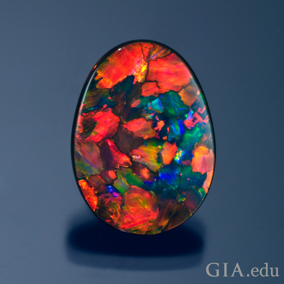 14th wedding anniversary gemstone Australian black opal