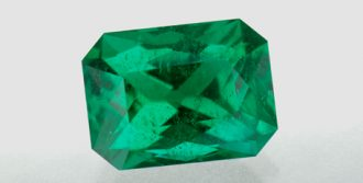 2.59 ct rectangular cut emerald