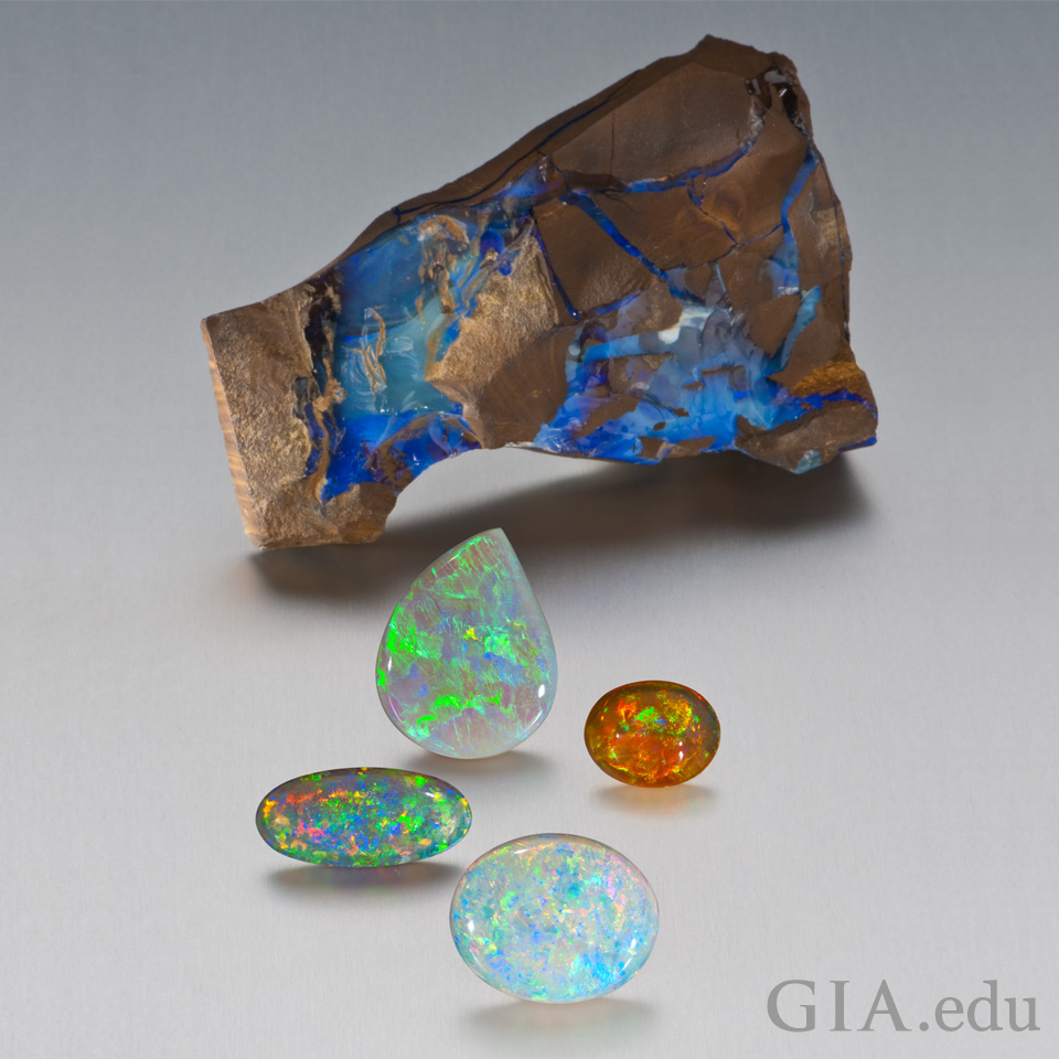 October birthstone opal play-of-color