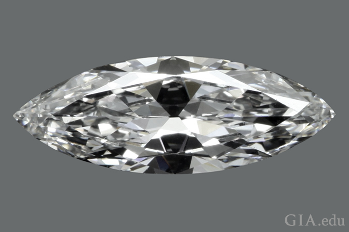 1.75 ct marquise diamond with a length-to-width ratio of 2.7:1.