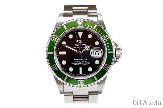 Rolex Stainless Steel Submariner Green Anniversary edition watch