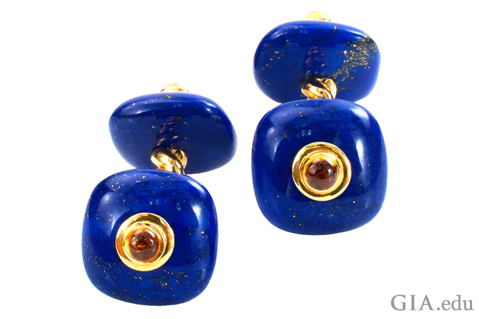 Deakin & Francis Lapis Lazuli and Cirtine Estate Cuff Links