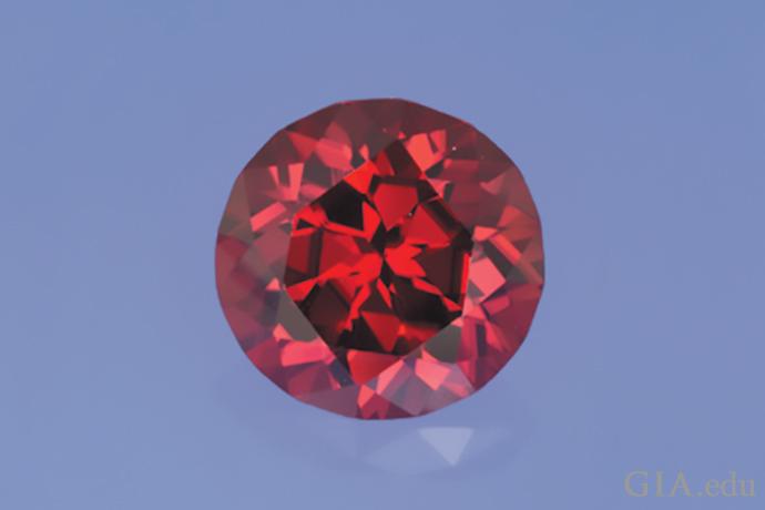 Beautiful red zircon.