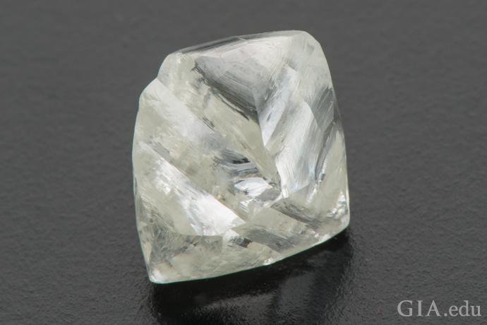 8.52 carat (ct) octahedral-shaped rough diamond crystal