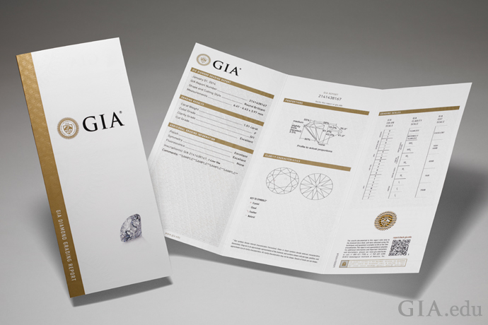 A GIA Diamond Grading Report for a natural diamond.